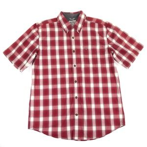 Carhartt Mens Large Relaxed Fit Short Sleeve Red P